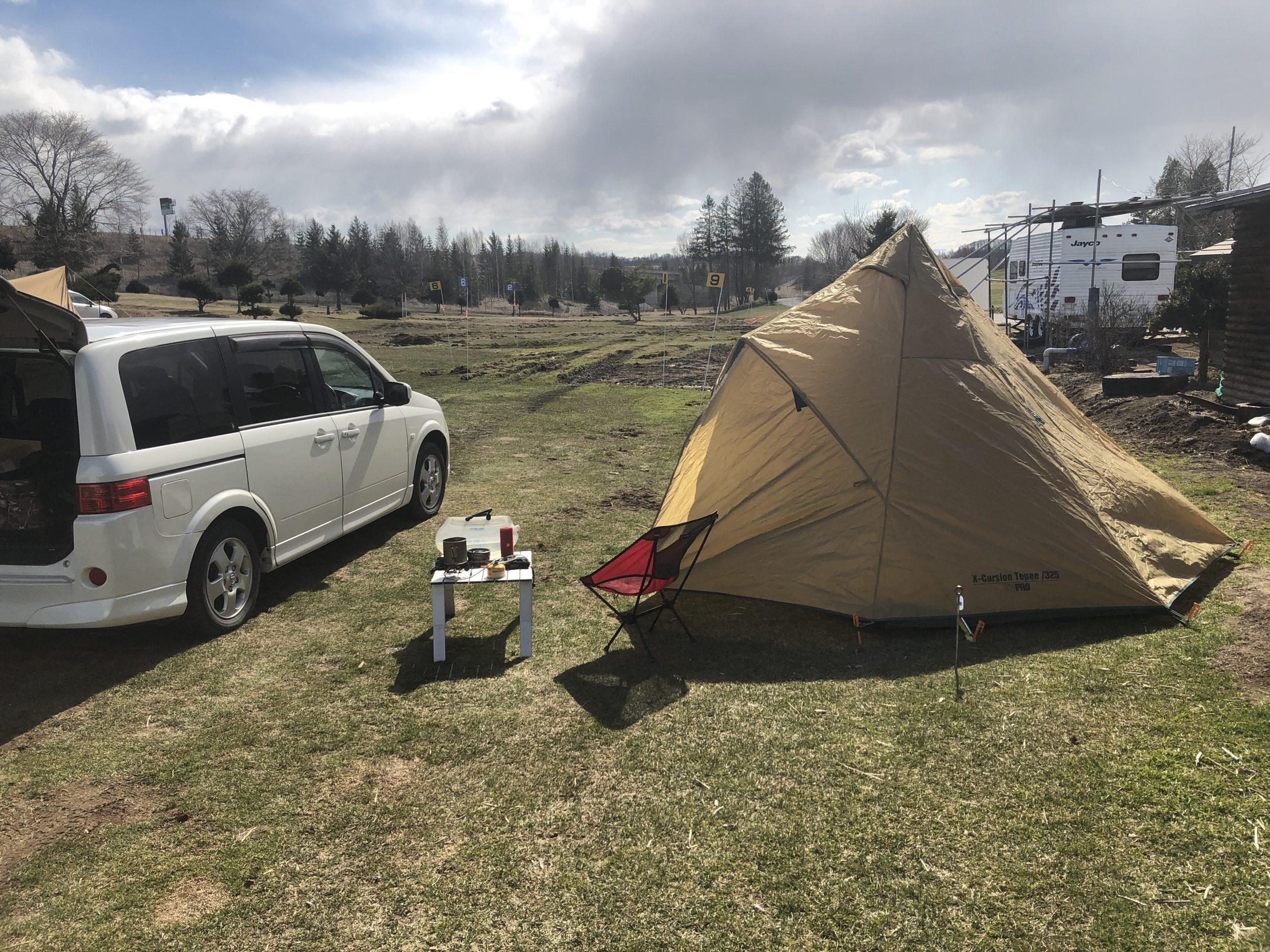 寒い北海道にやっとキャンプのシーズンが来たので行って来た